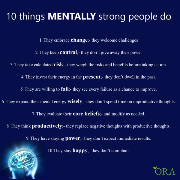10 Things Mentally Strong People Do